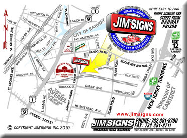Jim Signs Inc Sign Makers Woodbridge Nj Custom